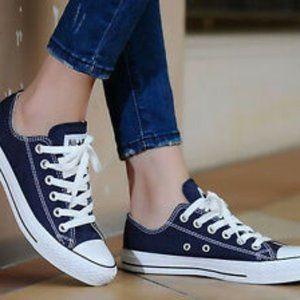 Women Navy Blue Converse Shoes on Poshmark